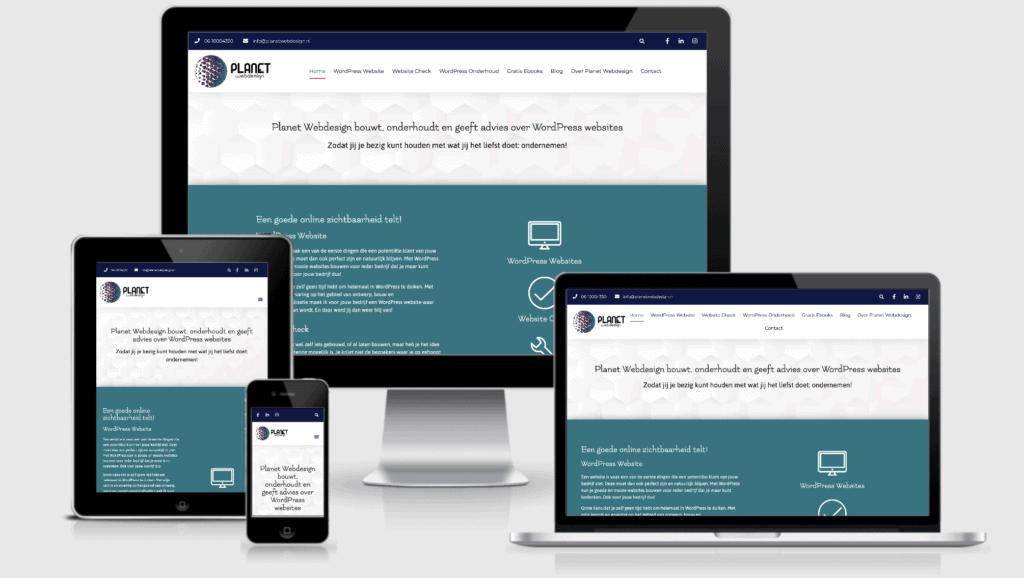 Wat is responsive webdesign - Planet Webdesign